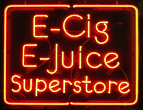 E-Cigarette E-Juice Neon Sign